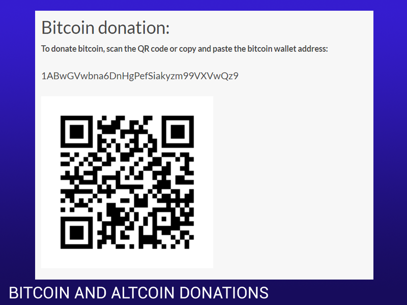 Accept Bitcoin, Ethereum, Litecoin donation for WordPress