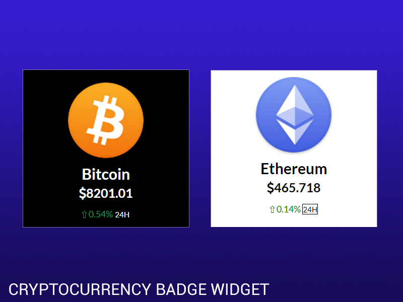 Cryptocurrency ticker widget